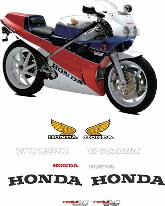 Picture of Honda VFR 750R RC30  1987 - 1990 Replacement Decals / Stickers