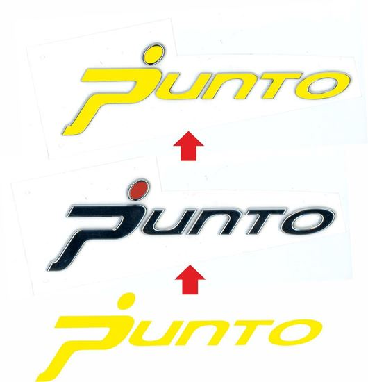 """Picture of Fiat Grande Punto rear  Boot """"Punto"""" Badge Vinyl overlay  Decal / Sticker"""