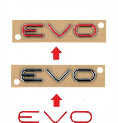 "Picture of Fiat  Punto Evo rear  Boot ""Evo"" Badge  overlay  Decal / Sticker"