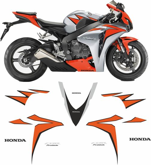Picture of Honda CBR 1000RR Fireblade 2010 replacement Decals / Stickers