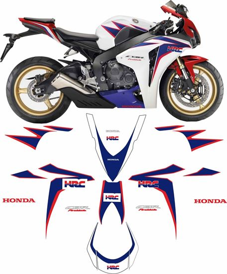 Picture of Honda CBR 1000RR Fireblade 2010 full HRC  replacement Decals / Stickers