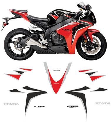Picture of Honda CBR 1000RR  USA 2010 replacement Decals / Stickers
