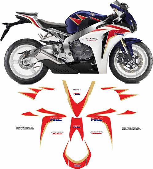 Picture of Honda CBR 1000RR Fireblade 2011 full HRC  replacement Decals / Stickers