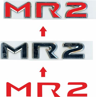 Picture of Toyota MR2 MK3 rear badge overlay Decal / Sticker