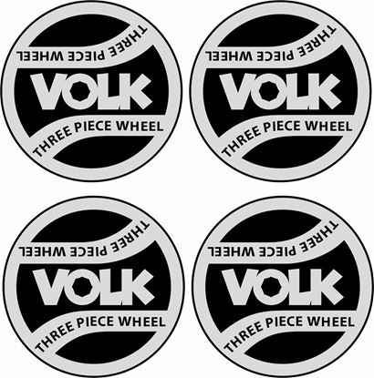 "Picture of ""Volk"" wheel centre cap  42mm Decals / Stickers"