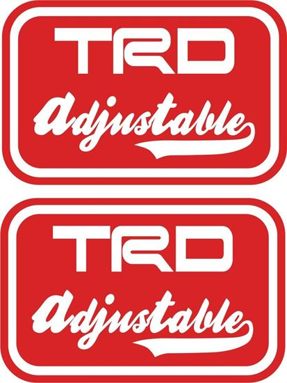 "Picture of ""TRD Adjustable"" Replacement  JDM Rajikaru  Decals / Stickers"