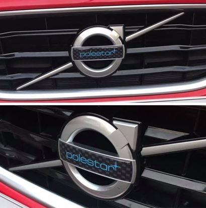 Picture of Volvo C30, S60, S40, V70, S80, XC70, C70, V50. XC90  front  Gel Badge Overlays