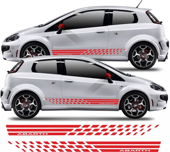 Picture of Fiat Punto Evo Abarth Side Tri Stripes / Stickers