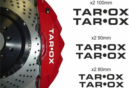 Picture of TAROX Brake Caliper Decals / Stickers