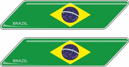 Picture of Brazil 70mm Exterior Gel Badges