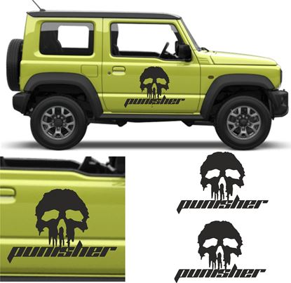 "Picture of Jimny ""Punisher"" side Door Decals / Stickers"