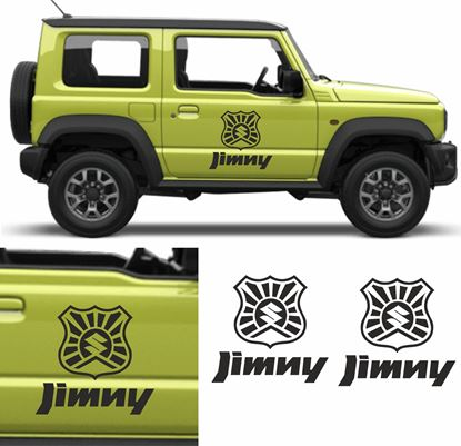 "Picture of ""Jimny"" rising sun shield side Door Decals / Stickers"