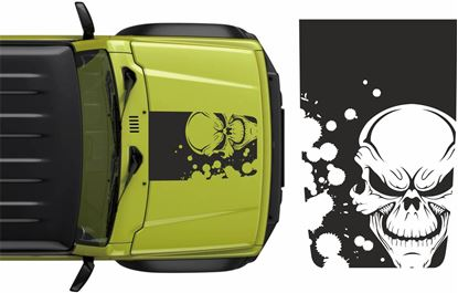 Picture of Jimny Skull Bonnet Decals / Stickers