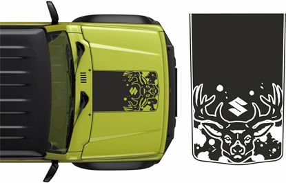 Picture of Jimny Deer Bonnet Decal / Sticker