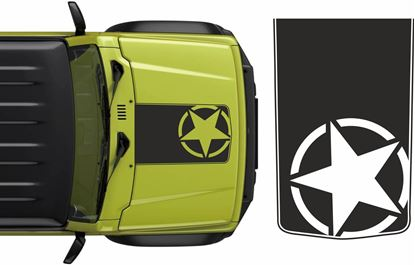 Picture of Jimny Military Bonnet Decal / Sticker