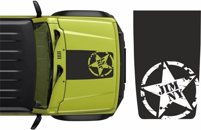 "Picture of ""Jimny"" Military Bonnet Stripe Decal / Sticker"