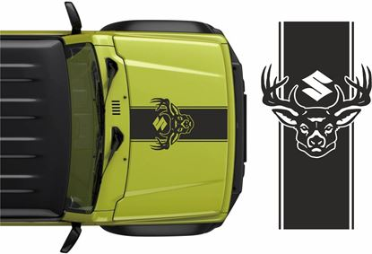 Picture of Jimny Deer Bonnet Stripe Decal / Sticker
