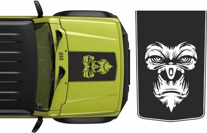 Picture of Jimny Gorilla Bonnet Decal / Sticker