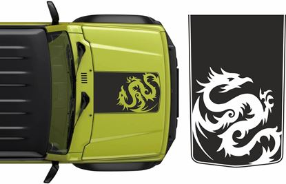 Picture of Jimny Dragon Bonnet Decal / Sticker
