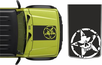 Picture of Jimny Military/Skull Bonnet Decal / Sticker