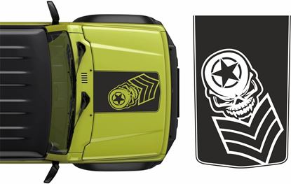 Picture of Jimny Military Skull Bonnet Decal / Sticker