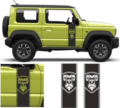 Picture of Jimny Gorilla side Door Decals / Stickers