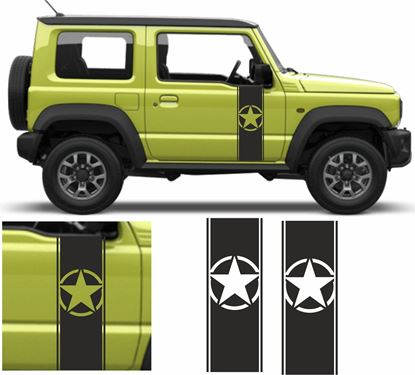 Picture of Jimny Military side Door Decals / Stickers