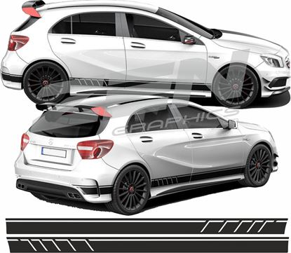 Picture of Mercedes  A Class panel fit  side Stripes / Stickers