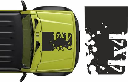"Picture of Jimny ""4x4"" Bonnet Decal / Sticker"