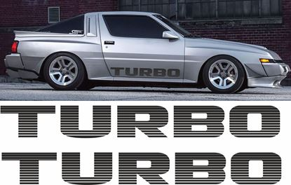 "Picture of Mitsubishi ""Turbo"" lower Door Decasl / Stickers"