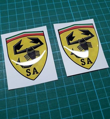 Picture of Fiat Scuderia Abarth wing Badges 60mm