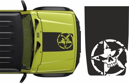 "Picture of ""Jimny"" Military Skull & Star Bonnet Decal / Sticker"