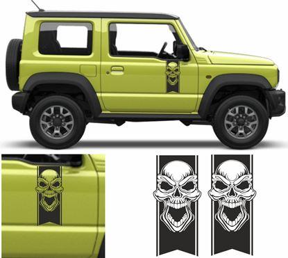 Picture of Jimny Skull side Door Decals / Stickers