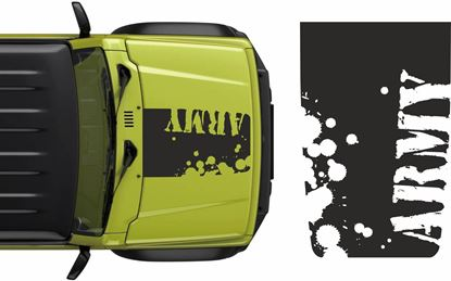 "Picture of Jimny ""Army""Bonnet Decal / Sticker"