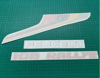 Picture of Peugeot 106 Rallye Restoration boot lid Decals / Stickers