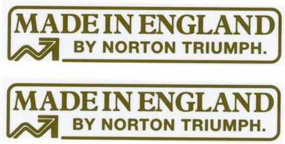 "Picture of Triumph / Norton Replacement ""made in England"" Decals / Stickers"