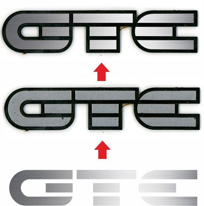 Picture of Vauxhall Astra MK2  GTE rear Badge restoration overlay  Decals / Stickers