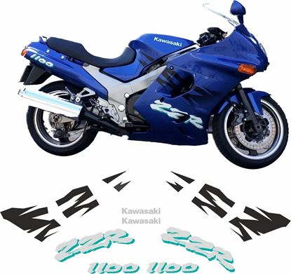 Picture of Kawasaki ZZR 1100 1995 replacement Decals / Stickers