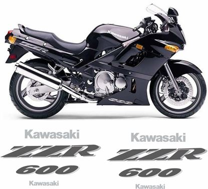 Picture of Kawasaki ZZR 600 1995 replacement Decals / Stickers