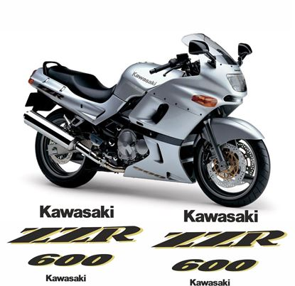 Picture of Kawasaki ZZR 600 1997 replacement Decals / Stickers