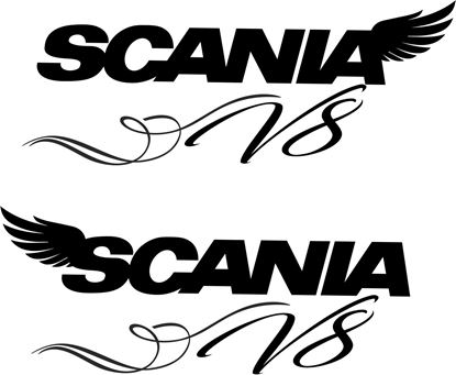 "Picture of ""Scania V8"" Decals / Sticker"