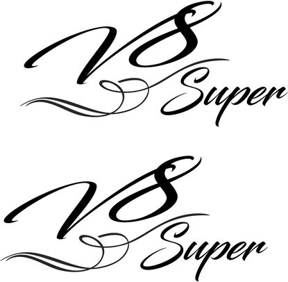 "Picture of ""V8 Super"" Decals / Sticker"