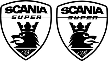 "Picture of ""Scania Super V8"" Panel Decals / Stickers"