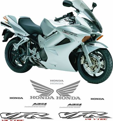 Picture of Honda VFR 800 Vtec Interceptor  2002 - 2003 Replacement Decals / Stickers