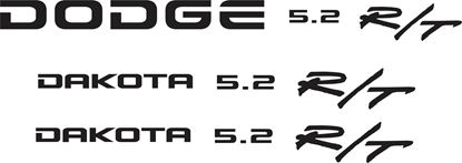 Picture of Dodge Dakota 5.2 R/T replacement Side & Rear  Decals / Stickers