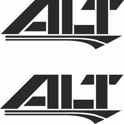 "Picture of ""ALT"" Decals / Stickers"