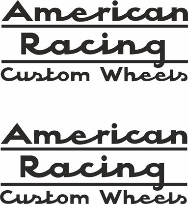 "Picture of ""American Racing Custom Wheels"" Decals / Stickers"