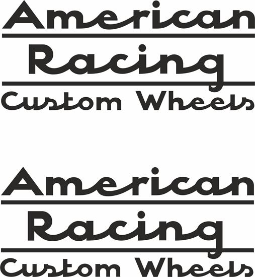 """Picture of """"American Racing Custom Wheels"""" Decals / Stickers"""