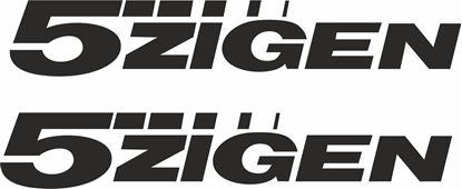 Picture of 5 Zigen Decals / Stickers