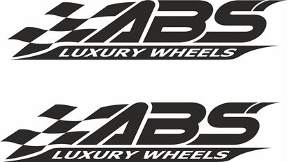 "Picture of ""ABS Luxury Wheels""Decals / Stickers"
